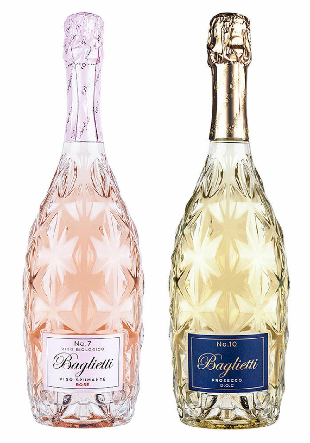 Baglietti Rosé Extra Dry No. 7 och Baglietti Prosecco No. 10.