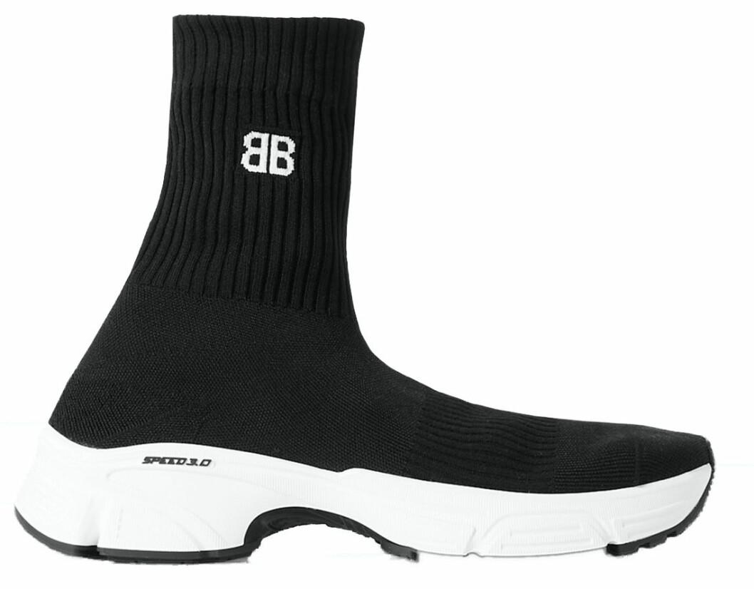 strumpinspirerad sneaker från Balenciaga i svart och vitt.