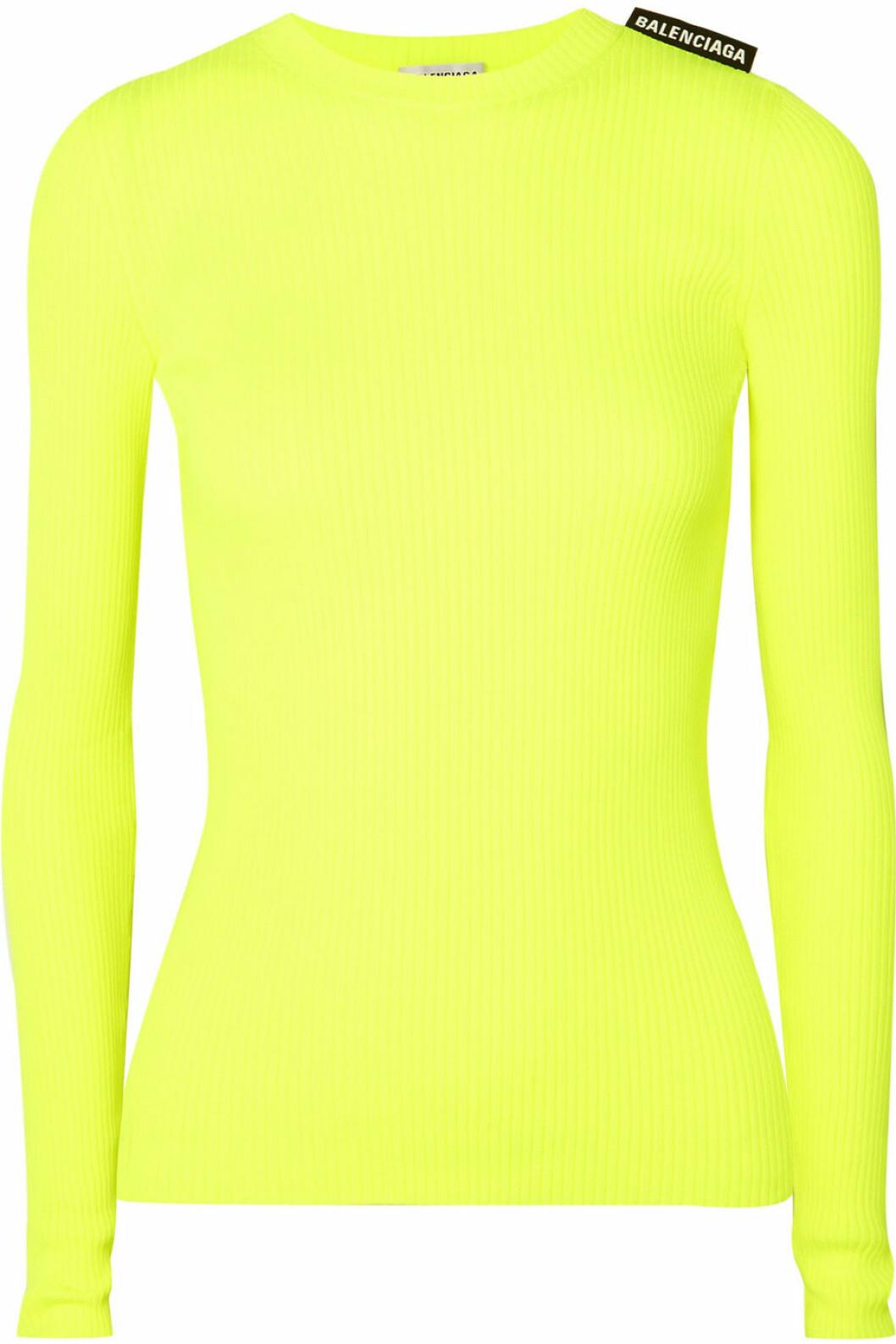 (Själv)lysande tröja i neongul från Balenciaga.