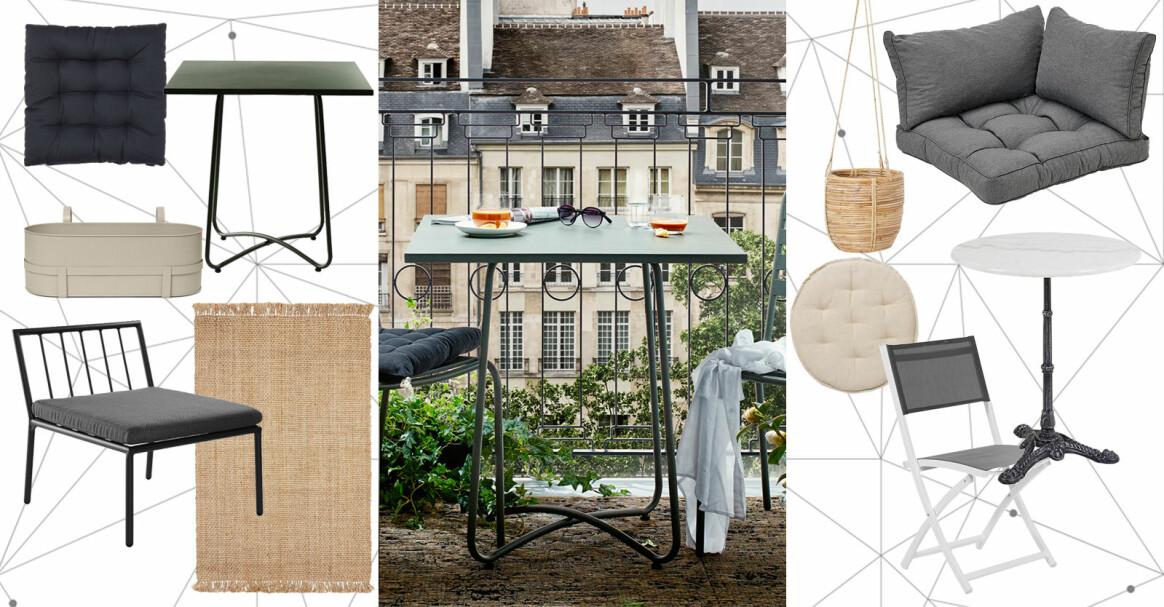 möbler för liten balkong