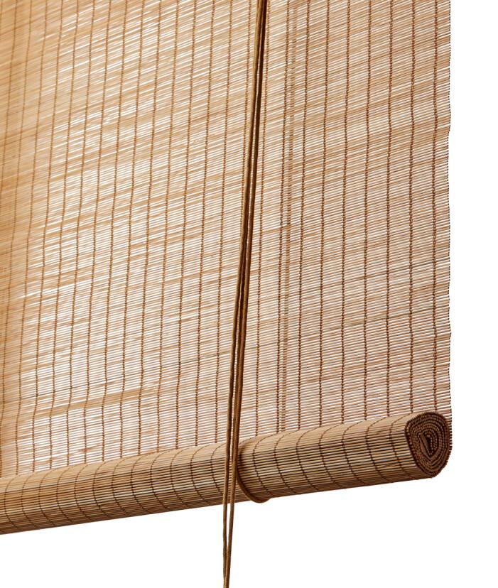 Rullgardin i bambu