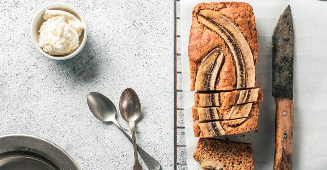 bananbröd med 3 ingredienser