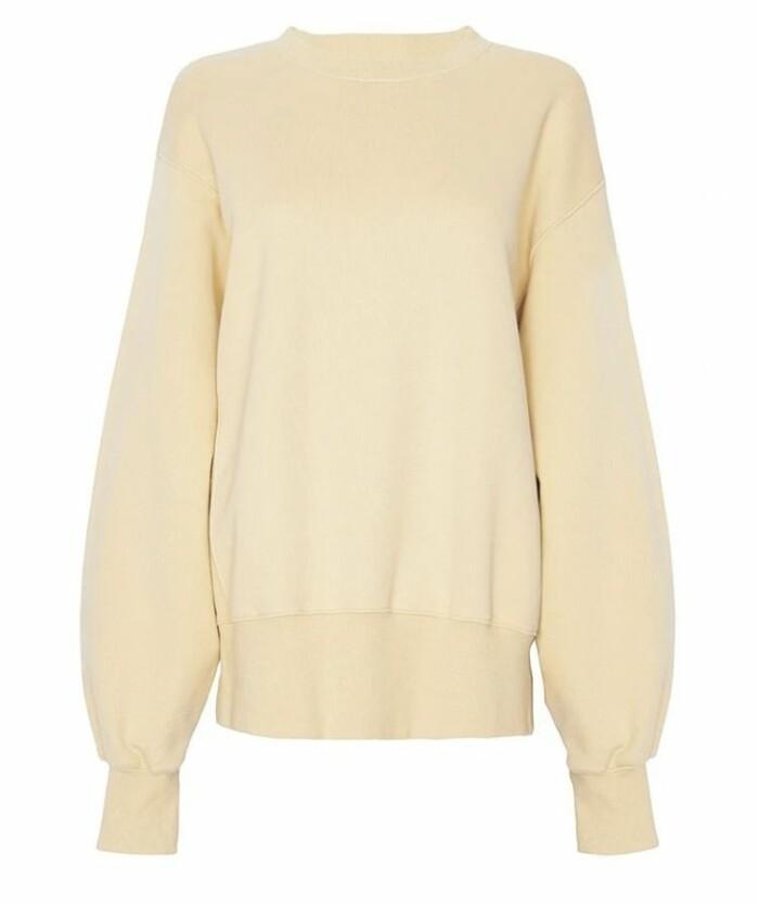 Oversized hoodie signerad The Frankie shop i gult.