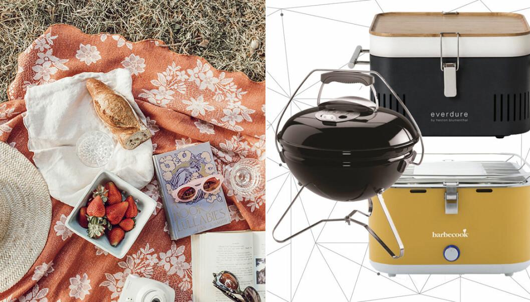 bärbar grill för picknick