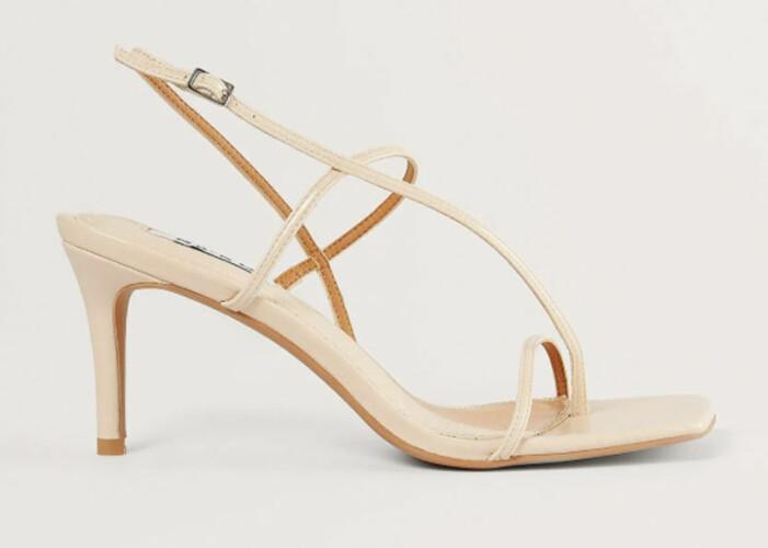 Beige sandaletter med fyrkantig tå