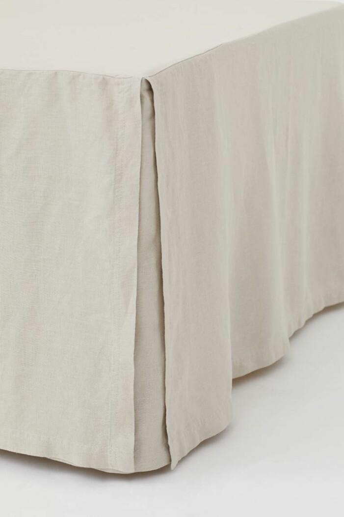 beige sängkappa linne hm