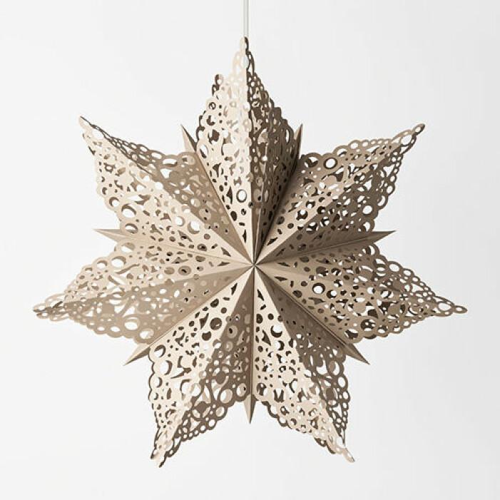 Beige julstjärna från Åhléns