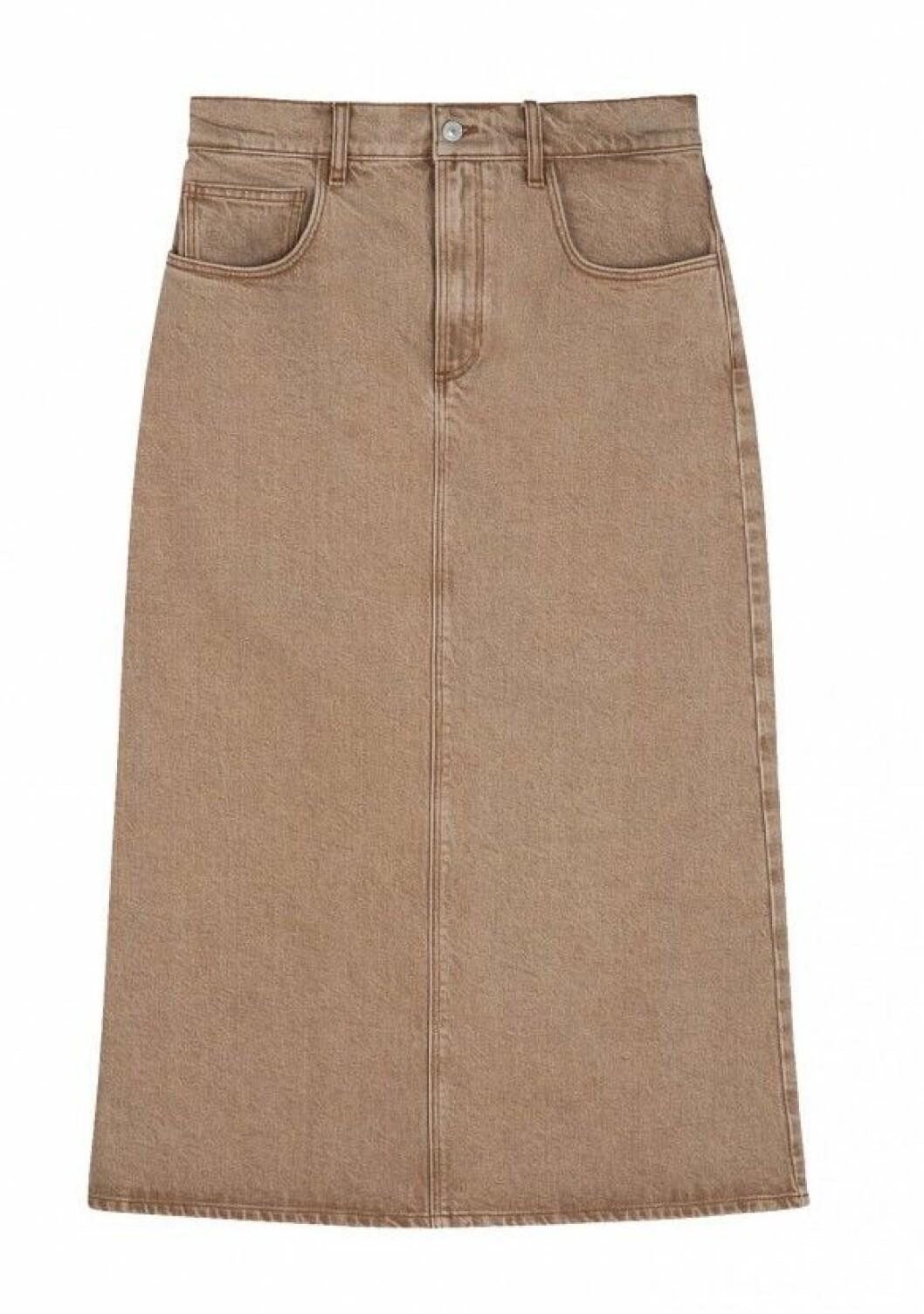 Beige jeanskjol från House of Dagmar.