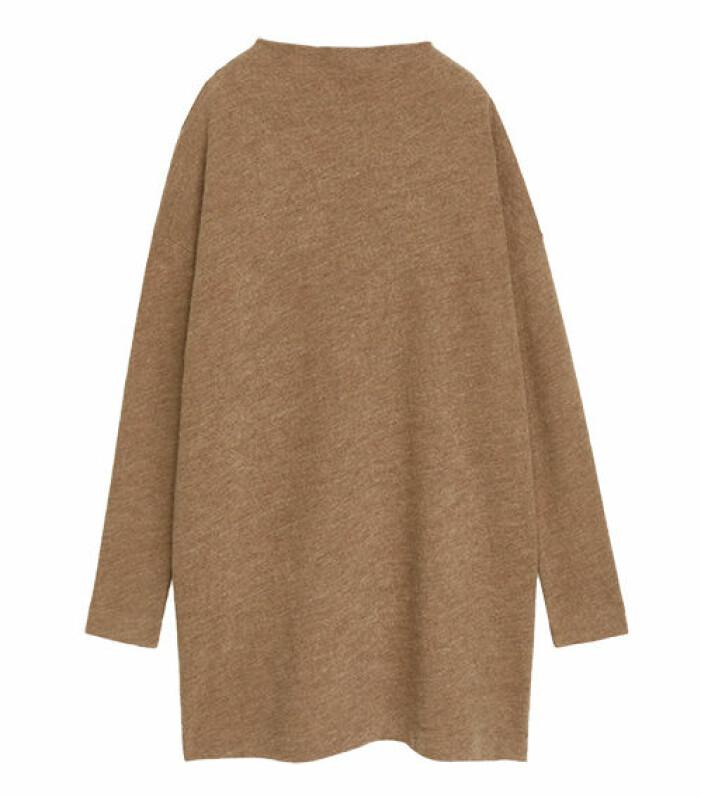 beige lång stickad tröja arket