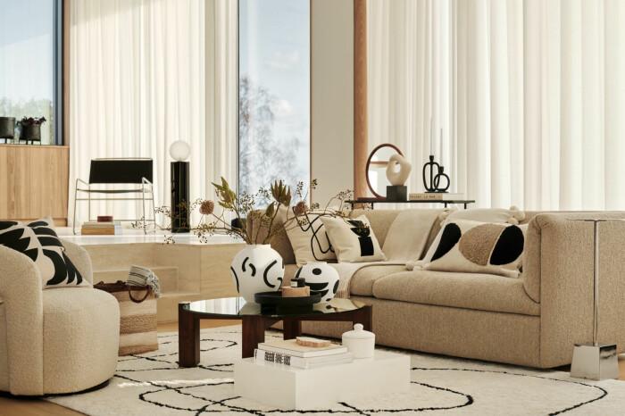 beige ljus och minimalistisk inredning