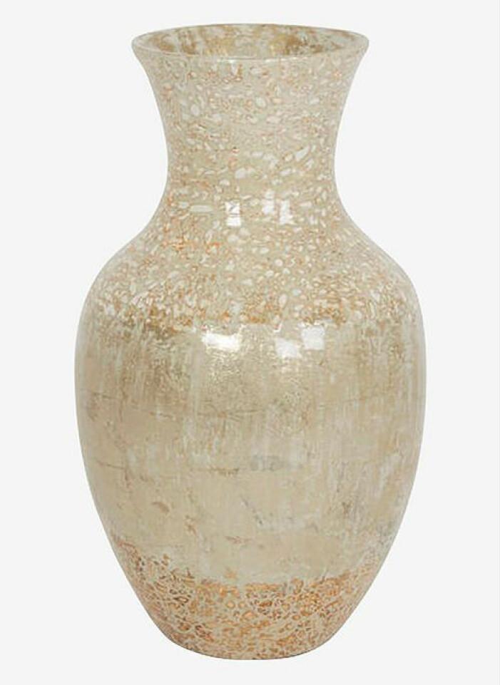Beige vas från Holmen