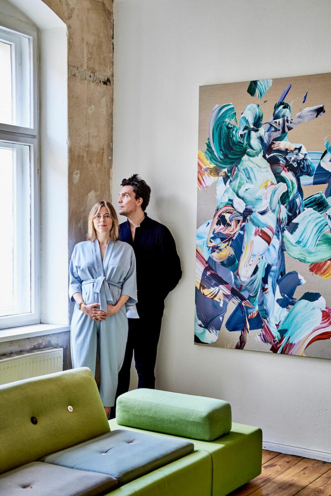 Lisa Thamm och Freddy Fuss i sitt hem i östra Berlin