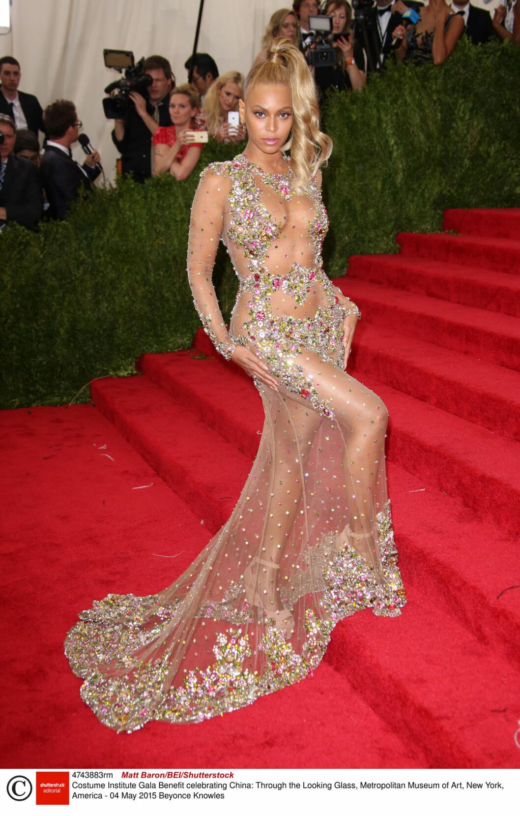 Beyonce på Met-galans röda matta