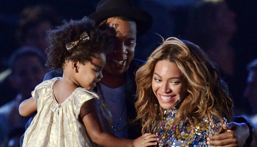 Beyoncé med dottern Blue Ivy.
