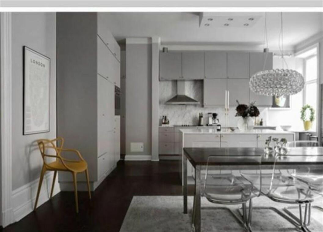 Bild på kök i Bianca Ingrossos nya lägenhet