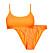 Orange bikini ribbat material