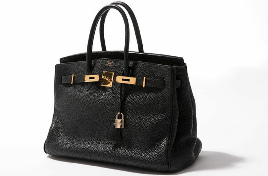 En svart Birkin-väska