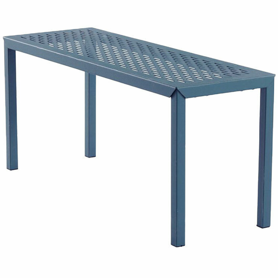 Bänk i pulverlackat stål i blått
