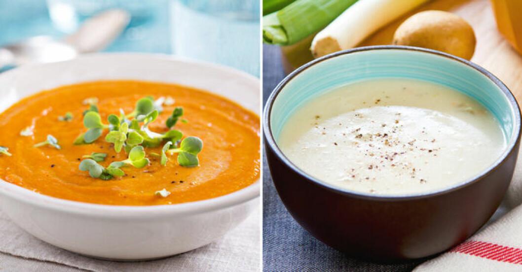 Snabba, billiga och vegetariska soppor.
