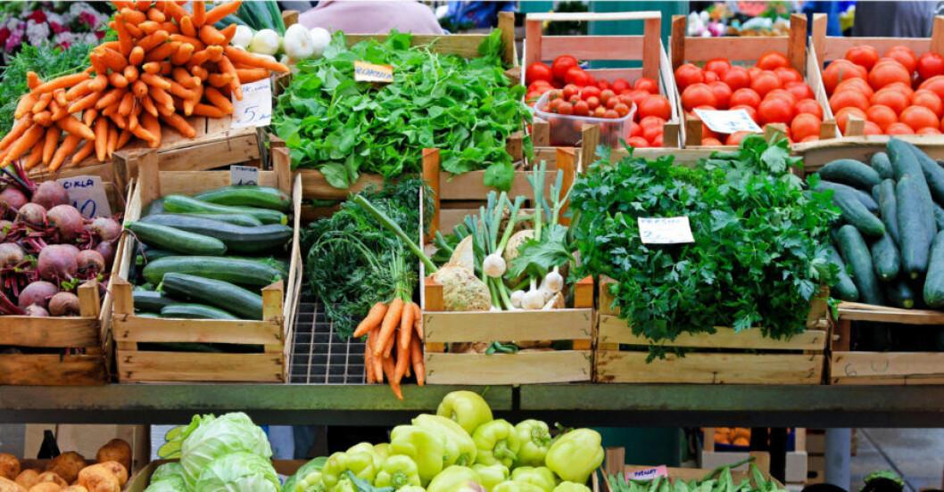 Ekologiska grönsaker.