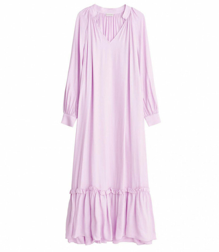 lila klänning lång