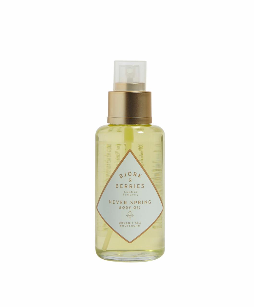 Never spring body oil från Björk & Berries