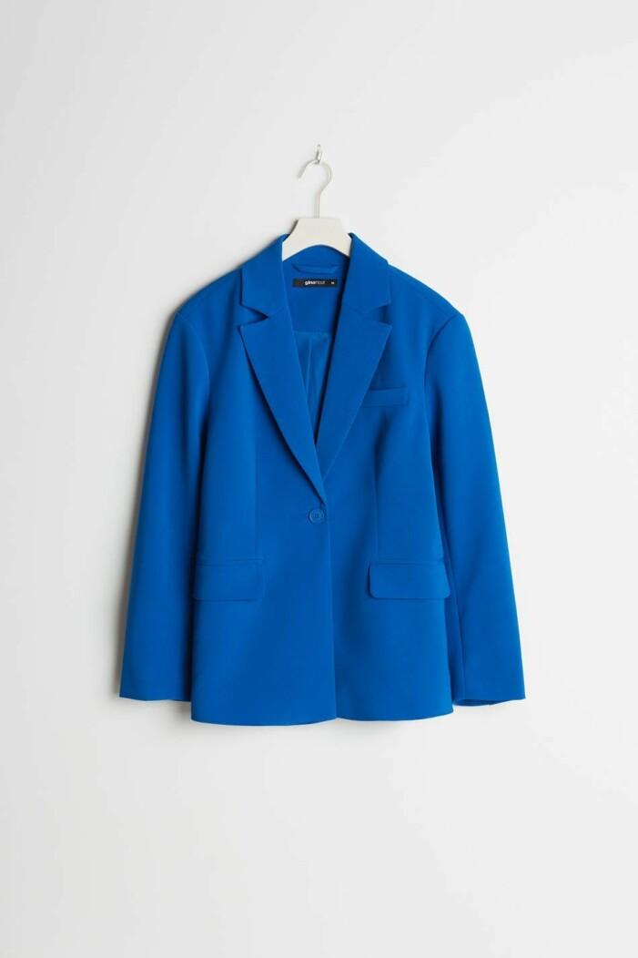 Blåa blazer gina tricot