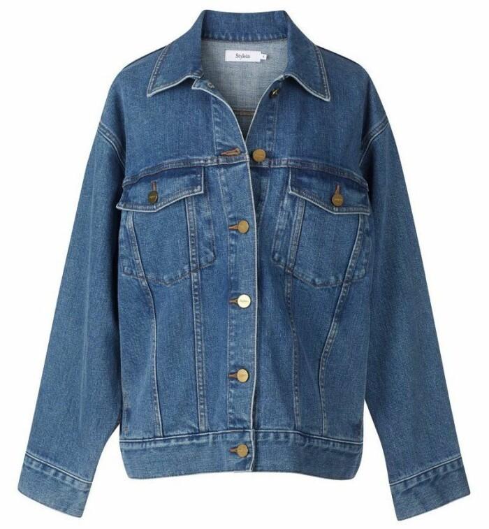 Blå oversized jeansjacka från Stylein s
