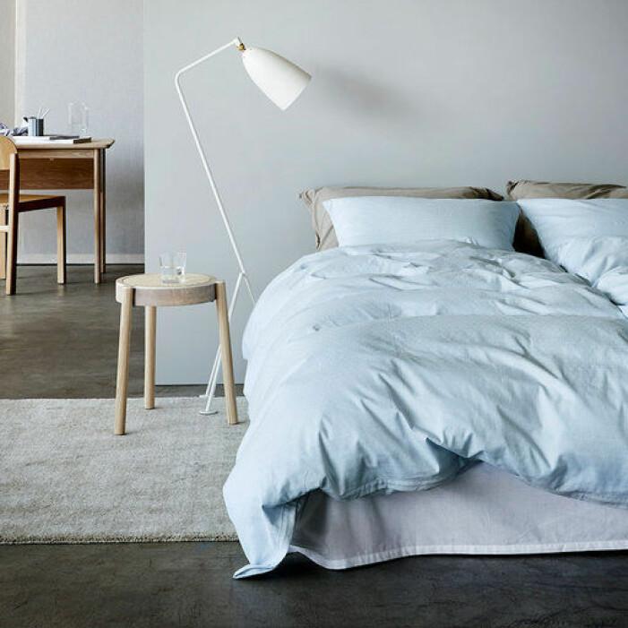 blå sängkläder