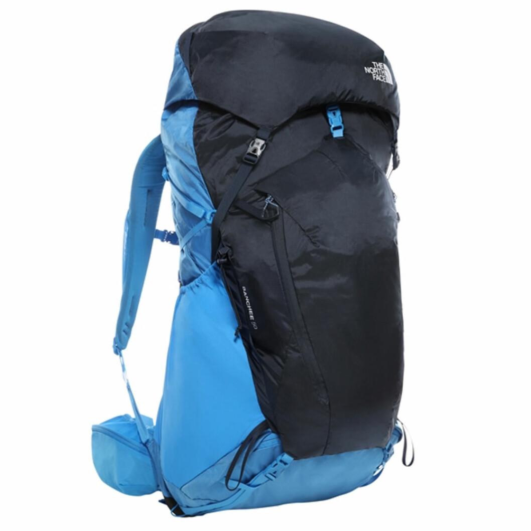 Blå ryggsäck för långa vandringar