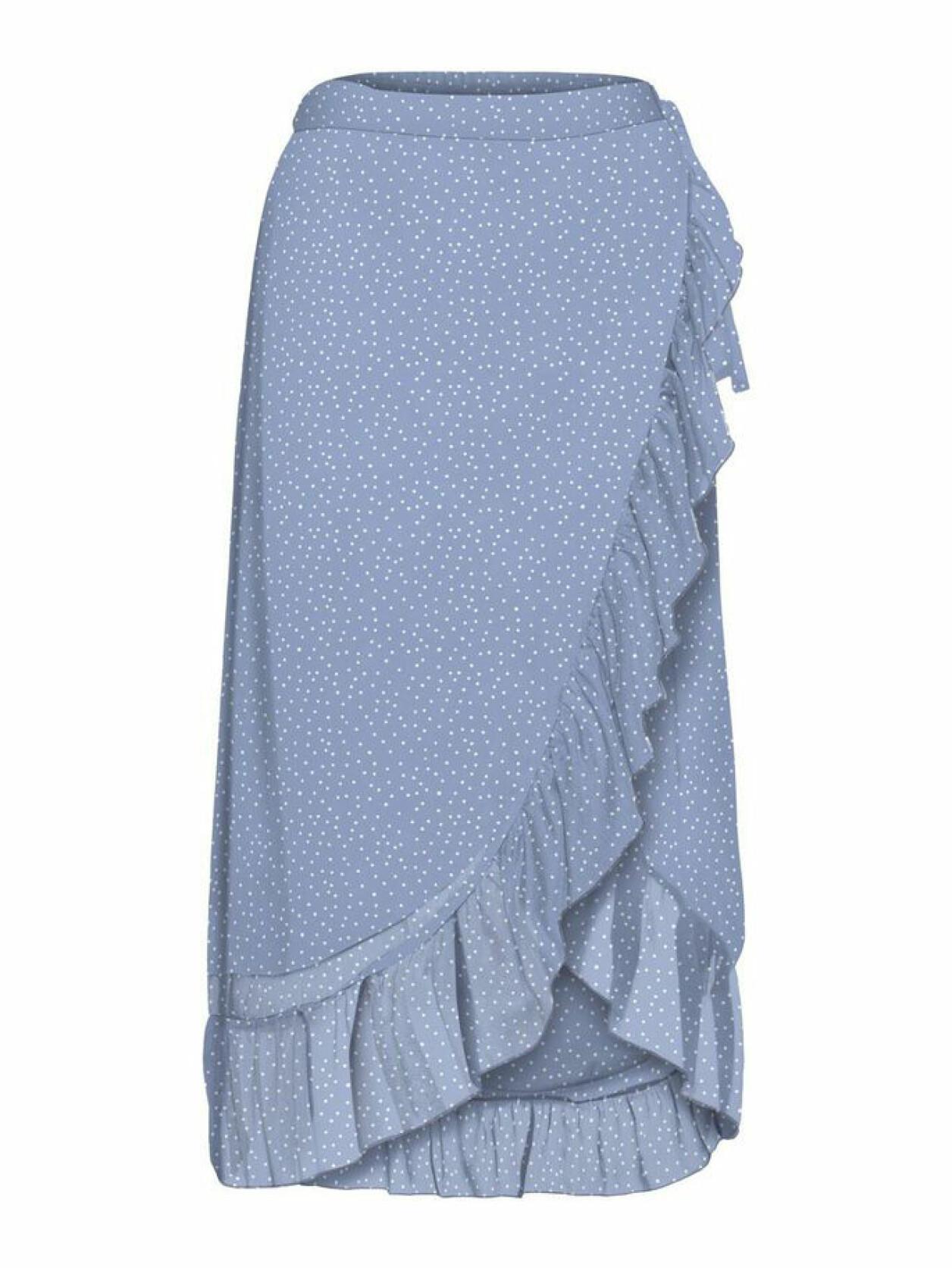 blå omlottkjol