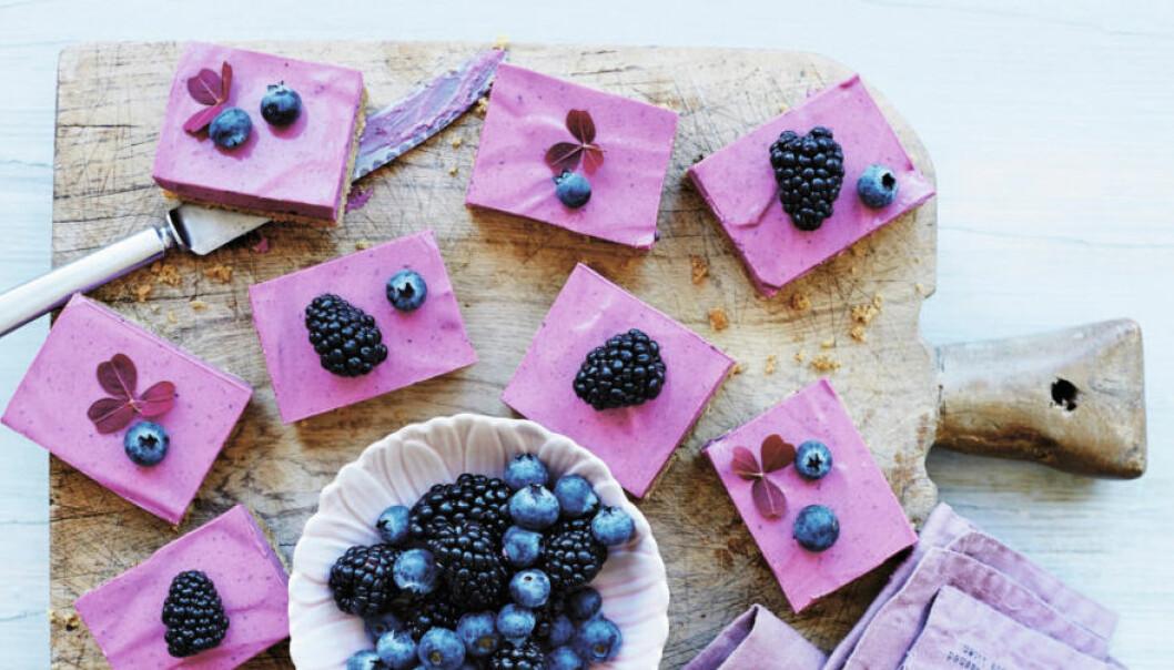 blåbärscheesecake med lakrits