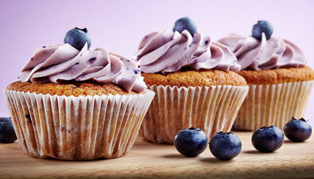 Ljuvliga blåbärscupcakes.