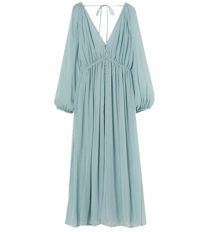blå klänning hm
