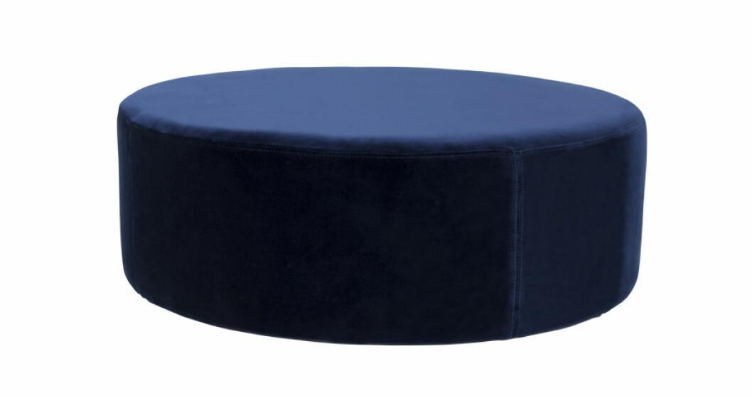marinblå Sammetspuff  Blanca Ottoman