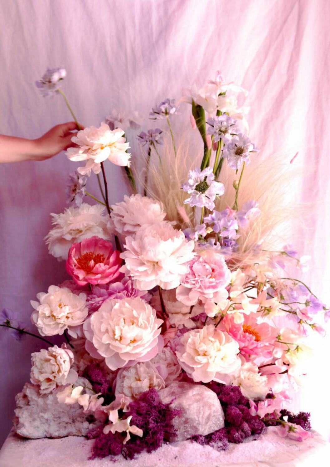 Dekorativ blombukett skapad av Poppykalas