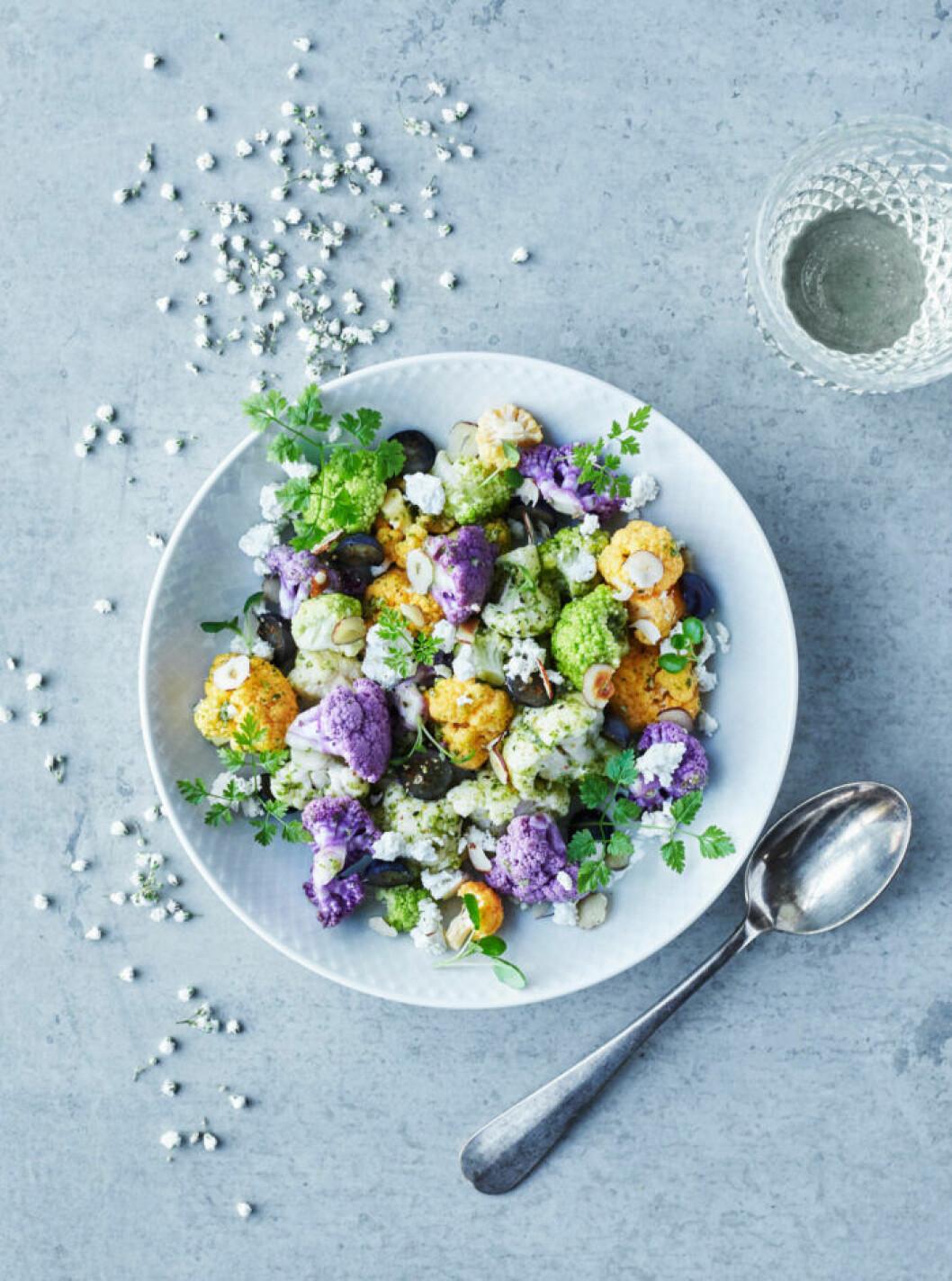 Recept på blomkålspalett