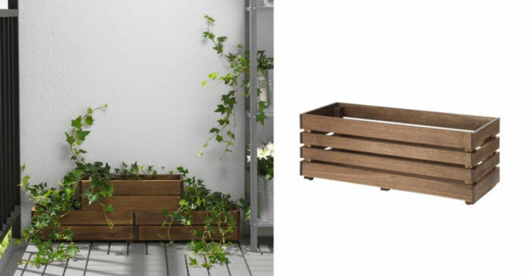 Ikea blomlåda i Akaciaträ
