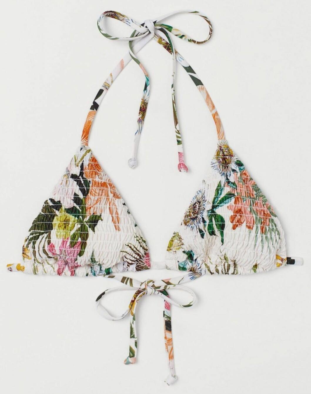 Blommig bikiniöverdel från H&M.