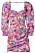rosa blommig klänning till sommaren 2021