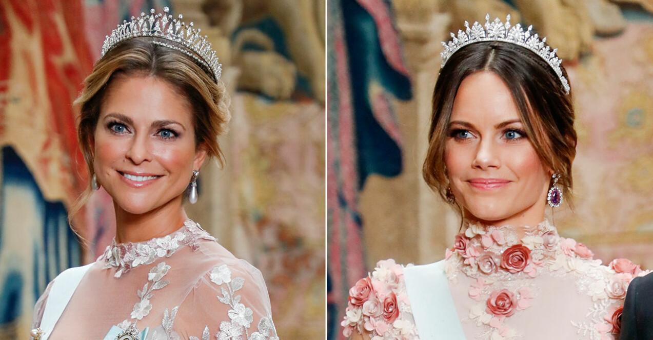 Prinsessan Sofia och prinsessan Madeleine i likadana kläder