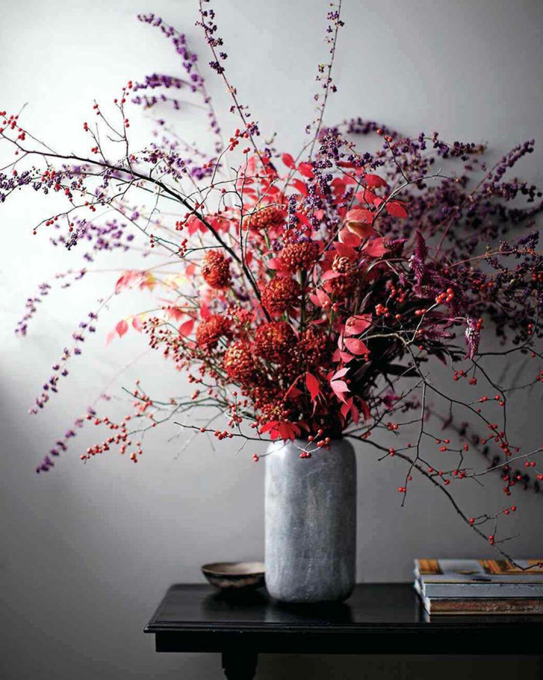 Blomsterarrangemang för hösten