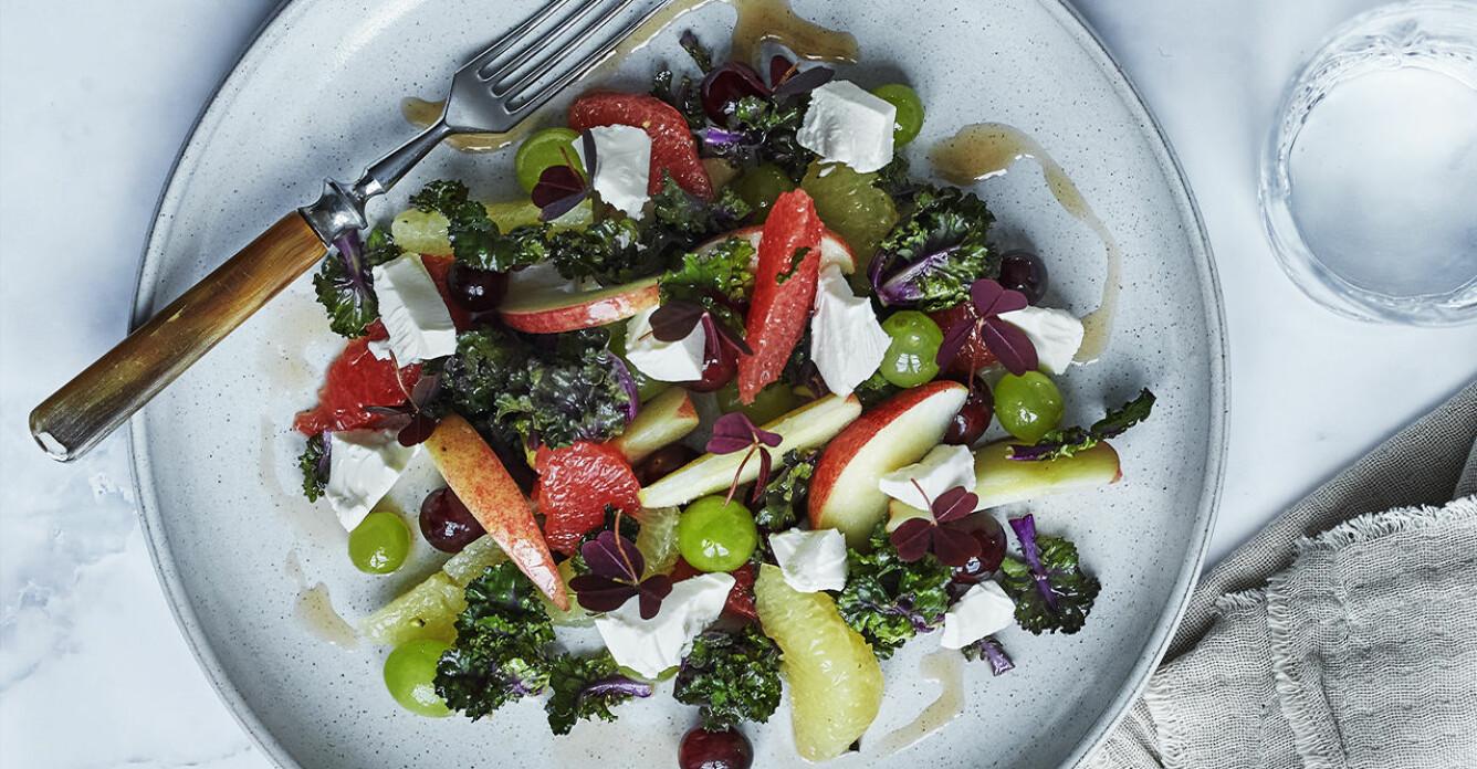 Recept på blomsterkål med frukt och vitost
