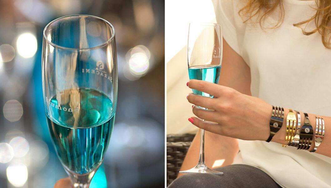 Blått vin från Blumond.