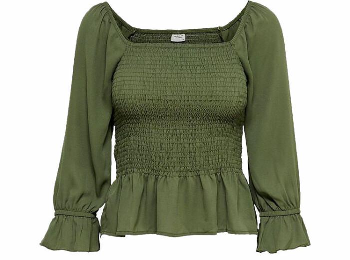grön smockas blus