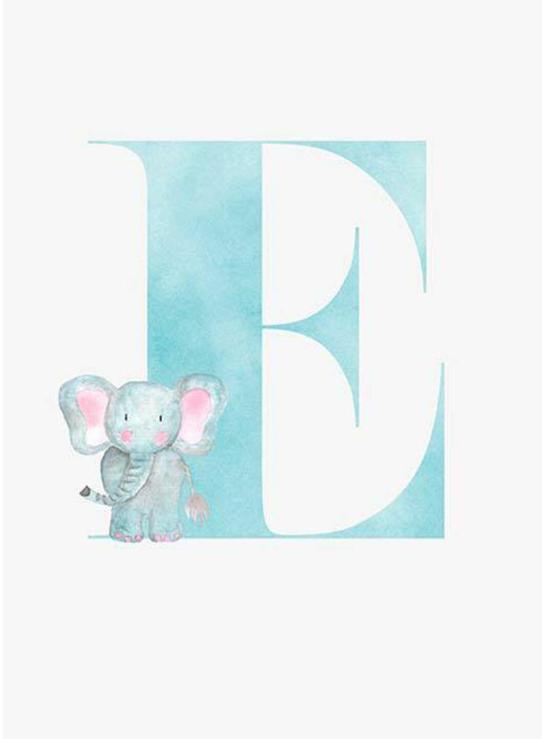 bokstavstavla med bokstaven E från desenio