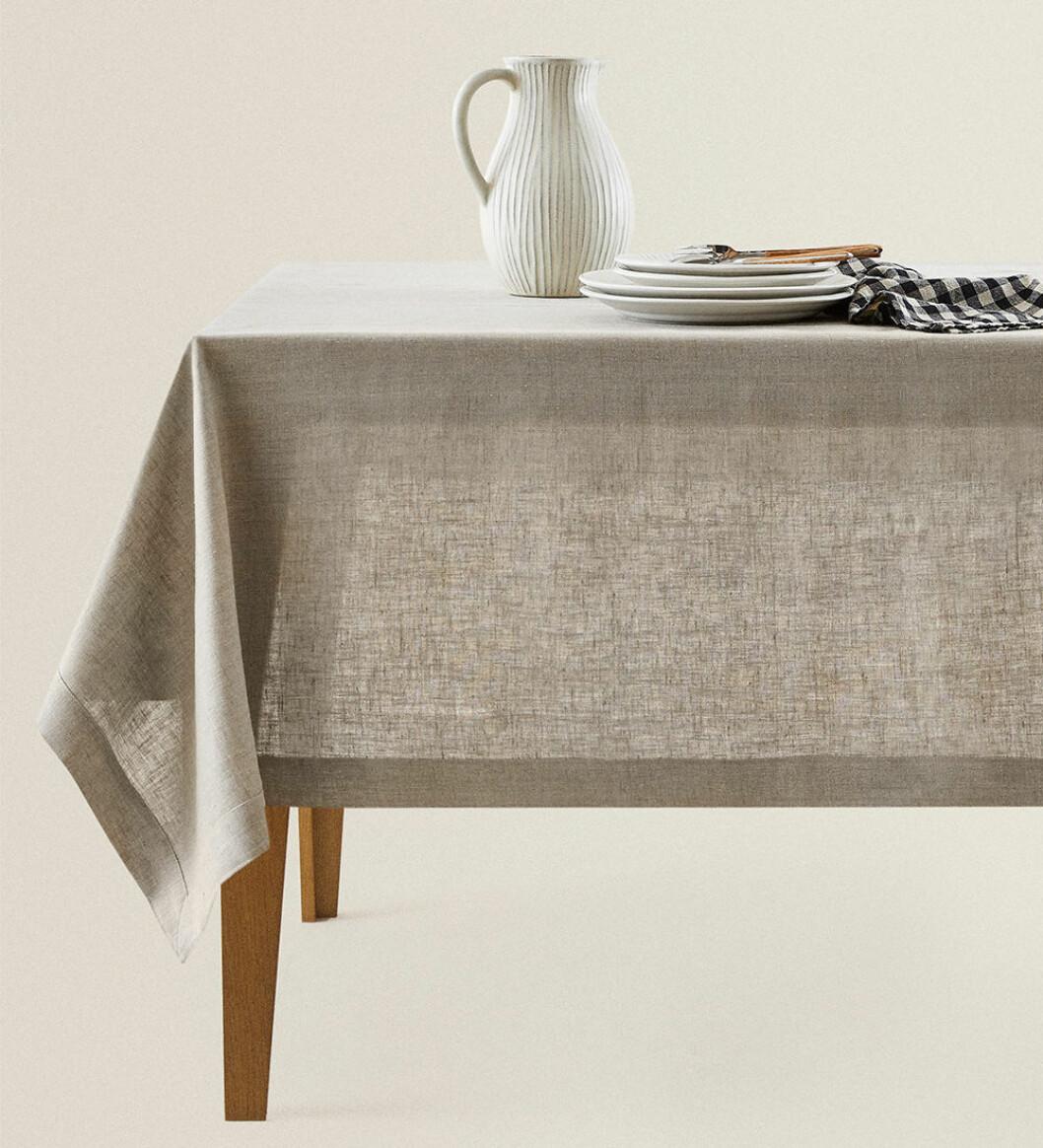 bordsduk i linne från zara home