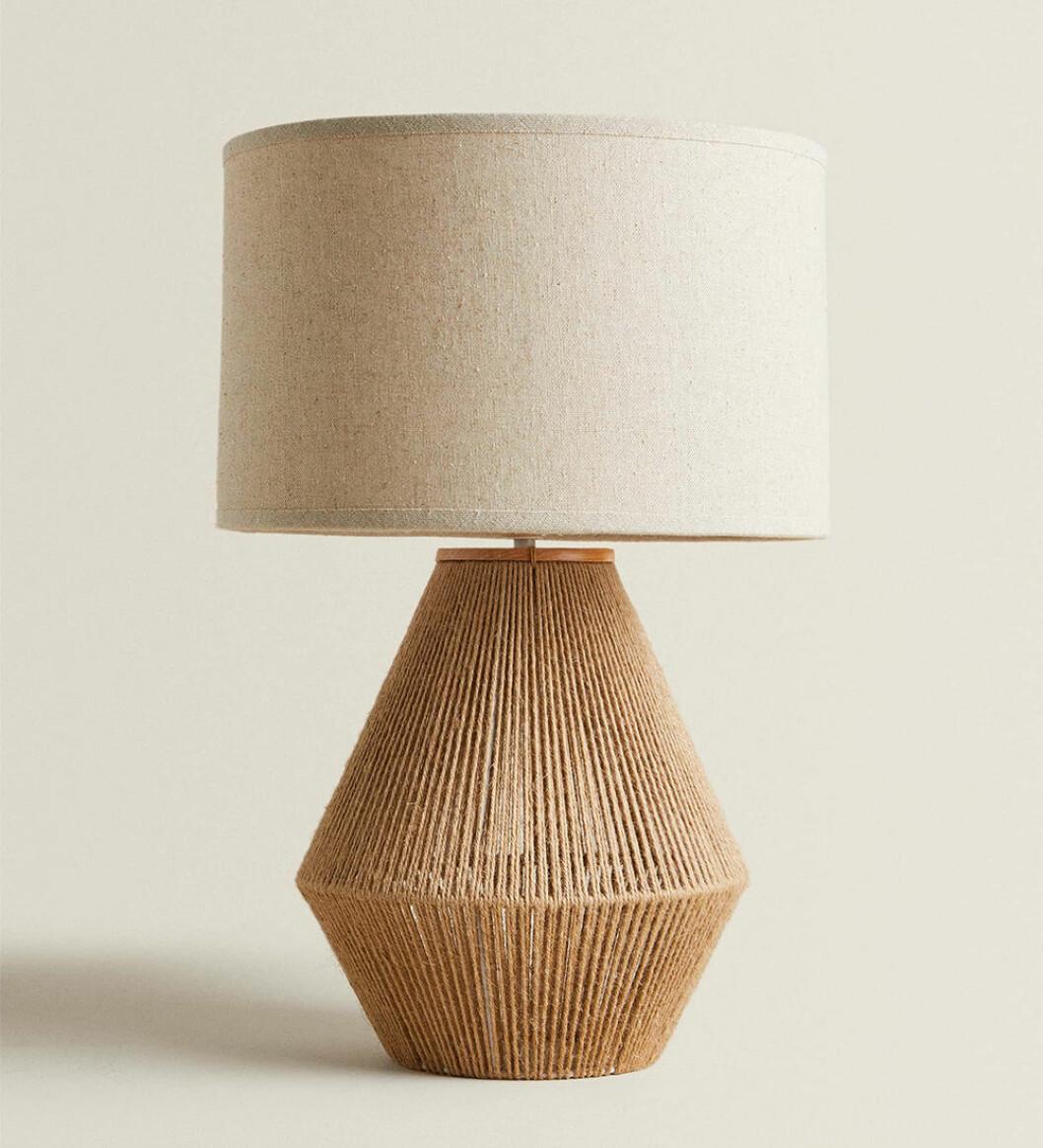 Lampa i jute från Zara Home