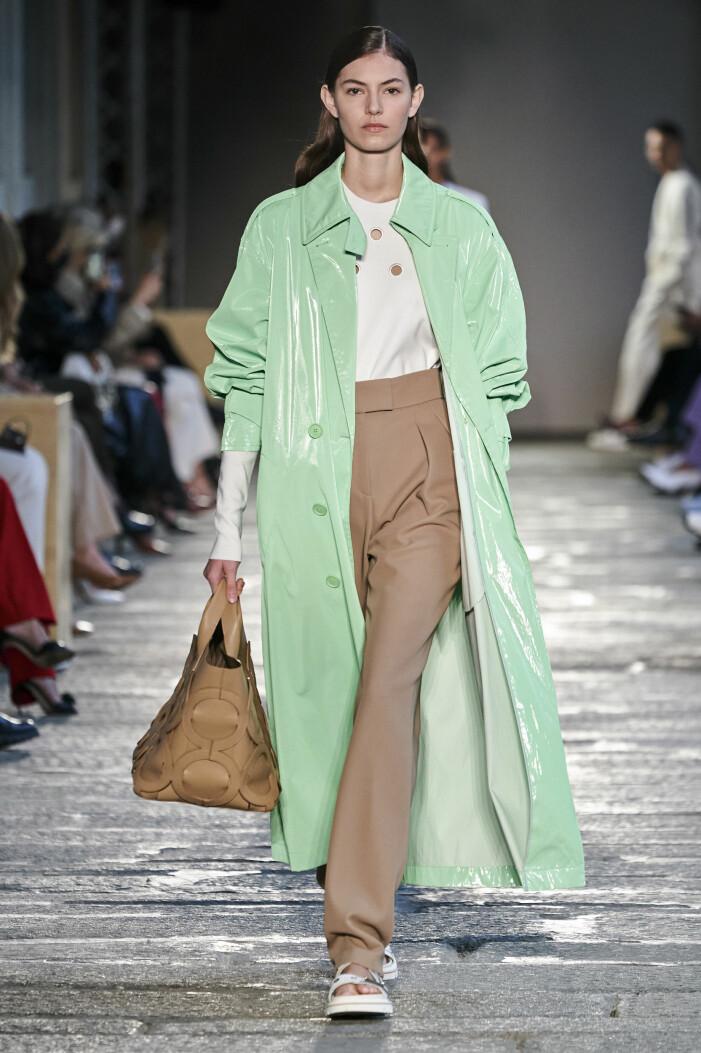 Piggelingrönt och beige är en snygg färgkombination våren 2021