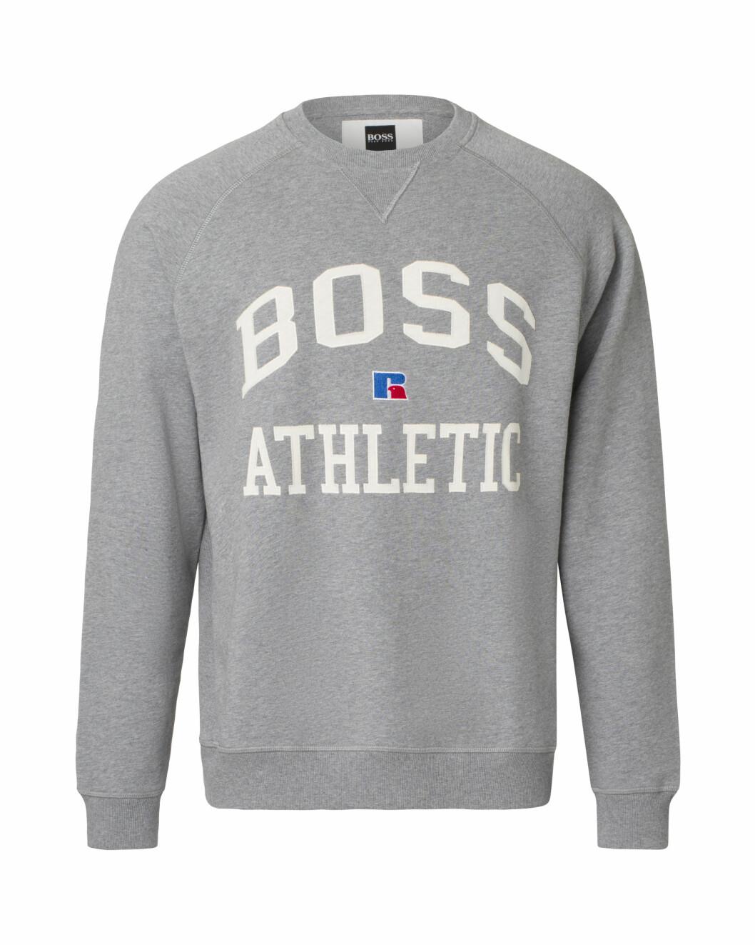 BOSS x Russell Athletic grå hoodie